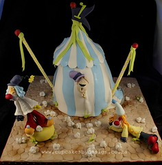 Mayhem at the Circus!! (Dot Klerck....) Tags: elephant cake southafrica circus clown capetown flags dot whimsical cupcakesbydesign