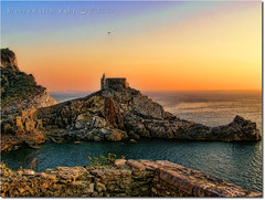 Ancora una volta Portovenere (in eva vae) Tags: blue sunset red sea sky italy panorama orange seascape history church nature water colors