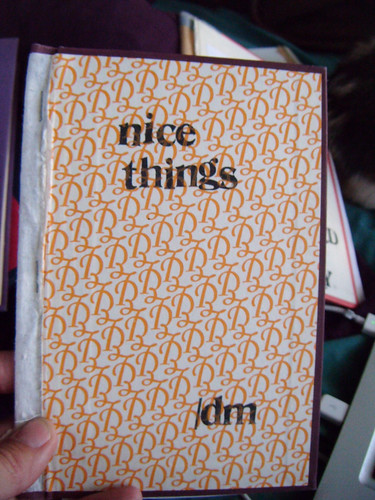 "outside of ""nice things"" book"