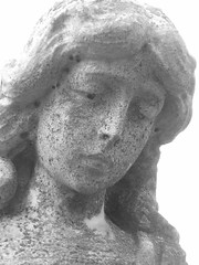 sorrowful statue