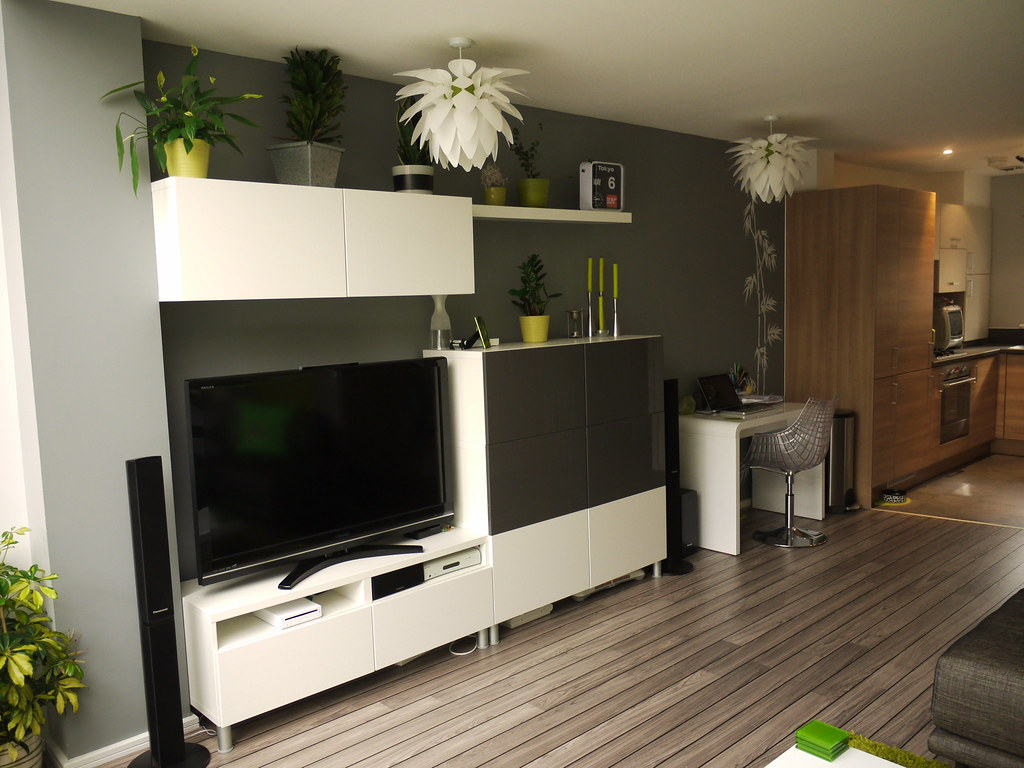 Modern TV unit with lots of storage