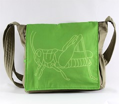 Green Grasshopper Messenger Bag