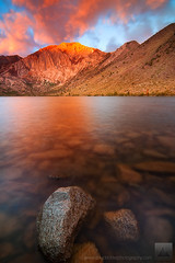 Rising Dawn - Convict Lake, California (david.richter) Tags: california ca longexposure morning pink blue light red usa mountain lake storm nature water clouds sunrise canon landscape outdoors eos rebel gold dawn rocks raw glow hiking unitedstatesofamerica naturallight norcal sierranevada alpenglow circularpolarizer 395 easternsierra convictlake mountlaurel johnmuirwilderness inyonationalforest gnd monocounty singleexposure ishootraw nohdr davidrichter singhray 450d gradualneutraldensityfilter rebelxsi tokina1116mmf28atx116prodx apertureacademy wwwdavidrichterphotographycom