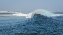 Rainbow Wave (jeff schultz photography) Tags: colors rainbow wave overhead seaspray groundswell bigwave ponquogue onthewater tianabeach duneroad hurricanedanielle westhamptonisland quantuckisland shinnecockeastcountypark plungingbreaker