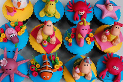 It's a Sea Party! (Little Cottage Cupcakes) Tags: sea fish cupcakes picnic seahorse underwater nemo starfish turtle seagull snail crab icecream octopus seaturtle seamonster fondant seasnail sugarpaste childrencupcakes littlecottagecupcakes babiescostume