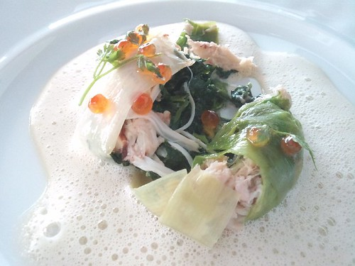 Nathalie Gourmet Studio Sept Menu Crab spinach charlotte