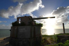 Singapore gun (MJField) Tags: kiribati tarawa betio singaporegun