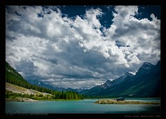 Spray Lakes Sweet Spot (David Richeson) Tags: lake clouds sidebar h3 picnic alberta hummer spaylakes