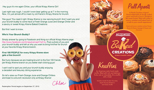 Krispy Kreme Philippines, free brunch, Krispy Kreme orange juice, Krispy Kreme baked creations