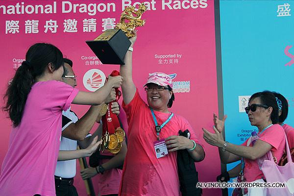 Singapore's Pink Spartan won a large trophy
