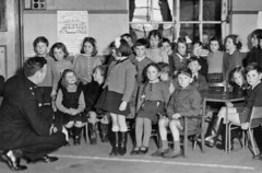 Before The Green Cross Code - Class 2 (theirhistory) Tags: child boy girl kid school class police policeman officer jacket dress shorts sanadals wellies wellingtons desk table glasses specs notice uk britain unitedkingdom england primary junior gb form pupils students education