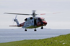 HM Coastguard helicopter, Sikorsky S92, north east Bernaray (Niall Corbet) Tags: coastguard rescue island coast scotland helicopter outer hebrides sikorsky s92 bernaray