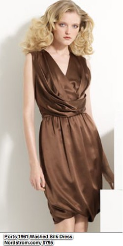 Ports 1961 Draped Washed Silk Charmeuse Dress | Nordstrom.com