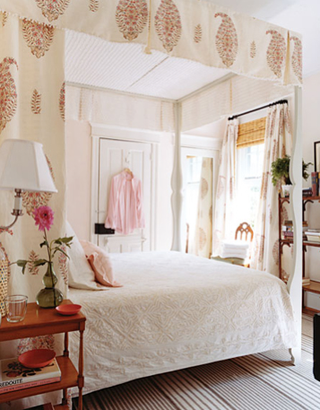 pale pink bed canopy