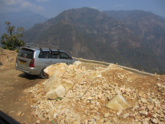 The road from Darjeeling to Sikkim India (WanderingPhotosPJB) Tags: flickruploaded india westbengal darjeeling himalayafoothills road rough hairpin bends unmetalled