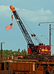 Happy 4th of July (Missabe Road) Tags: dmir x10 crane twoharbors cn