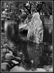 (Caro Rolando) Tags: jardinjapones buenosaires argentina paisaje piedras agua water stones blancoynegro blackandwhite monocromo monocromatico