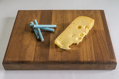 Chalk and Cheese   27/52   2017   Theme : Cliché (@Dave) Tags: 52 chalk cheese cliche theme jarlsberg holes cheesey