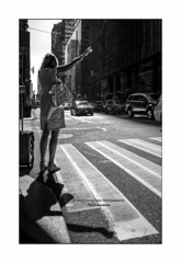 nyc#103 - Cab Hailing (Nico Geerlings) Tags: hailacab newyorkcity midtown manhattan nyc ny usa streetphotography blackandwhite ngimages nicogeerlings nicogeerlingsphotography leicammonochrom 28mm elmarit newyork shadow shadows