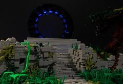 Causeway (Rambles of Orange) Tags: lego scifi pyramid aliens illuminati jungle mayans ruins nature