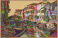 It's a wonky world out there (Beaches Marley.....iPad art) Tags: italy wonky houses crazy burano colorful