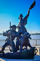 The Captains Return (Lewis and Clark Expedition) statue - St Louis MO (mbell1975) Tags: stlouis missouri unitedstates us the captains return lewis clark expedition statue st louis mo stl usa america sculpture