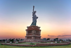 Statue of Liberty (Abdul Rehman Amjad) Tags: nikon sigma d7100 art monument sunset town bahria replica statue liberty pakistan rawalpindi lib