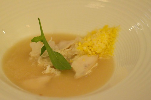 spanner crab, abalone & sweet corn soup