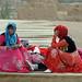 Uyghur girls at Gaochang ruins