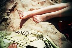 , (Benedetta Falugi) Tags: analog film feet beach summer sea benedettafalugi wwwbenedettafalugicom believeinfilm analogphotography