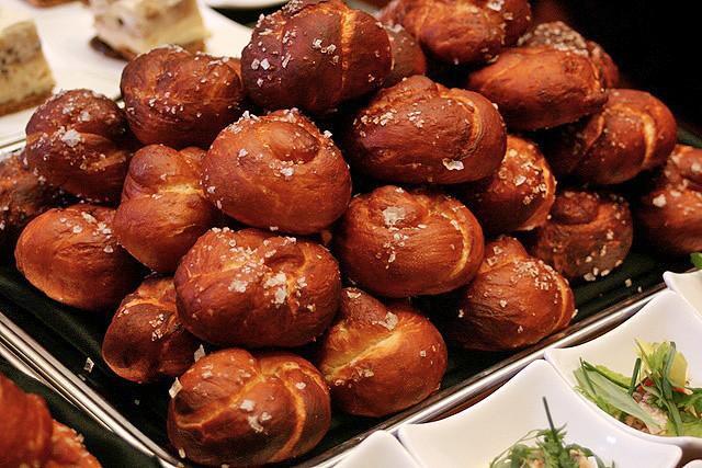 Wolfgang Puck's homemade pretzels