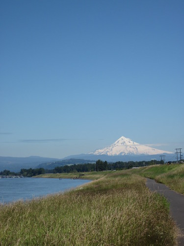 Mt Hood from Marine Drive