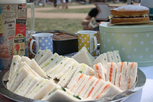 Sandwiches and tea