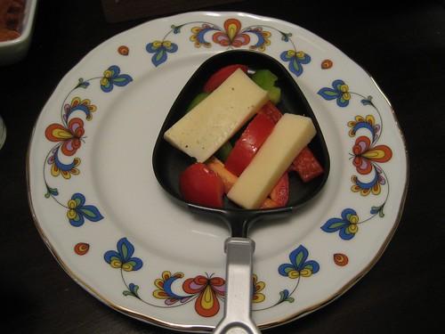 Raclette prep!