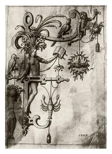 007-Letra F- La amistad-Neiw Kunstliches Alphabet 1595- Johann Theodor de Bry