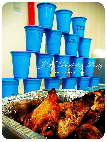 World Cup Themed Birthday Party: BBQ Chicken