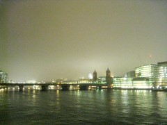 Thames (Alkisti Christofidaki) Tags: greatbritain england mist london misty fog thames haze londonbynight overcast rainy hazy dim riverthames vagueness drizzle cityoflondon britishweather wetness greaterlondon londonrain mizzle nightllights