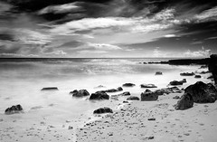 Olhos-de-Agua (petefoto) Tags: longexposure sea blackandwhite seascape beach portugal clouds rocks coastal filters foreshore icewater nd110 bestcapturesaoi 09hgrad mygearandmepremium mygearandmebronze mygearandmesilver mygearandmegold