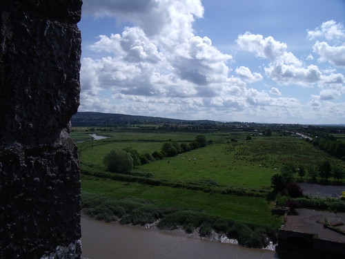 Sightseeing from an irish castle