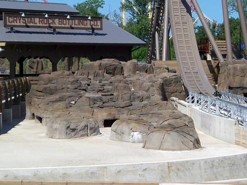 Cedar Point - Close Up of Shoot the Rapids Waterfalls