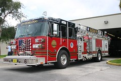 Orlando Fire Dept T-6 (West Florida Fire Photography) Tags: ofd tower6 towerladders orlandofiredept sutphenfiretrucks floridafiretrucks floridafireapparatusandstations