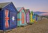 Bathing boxes on Brighton beach (J-C-M) Tags: beach colors catchycolors nikon colorful brighton dusk painted victorian australia melbourne victoria boxes d200 bathing brightonbeach australianflag bathingboxes