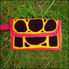 art nouveau design bag in purple and yellow (oranges and apples) Tags: original color colour yellow purple handmade sewing magenta craft artnouveau artdeco clutch etsy crafty sewn wristlet