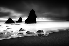 Elements... (maxxsmart) Tags: ocean california longexposure winter sunset sea blackandwhite bw seascape cold water clouds canon landscape sand rocks december pacific salty lee bayarea marincounty 2009 marinheadlands rodeobeach clearingstorm jimpatterson fortcronkhite ef1740f4lusm normalcrop 1x15 5dmarkii lastminutesunset lee9ndgrad foundfilterholdernotmine frullframe lostfilterholdernotmine