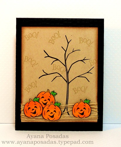 Halloween Card- Bare Tree (1)