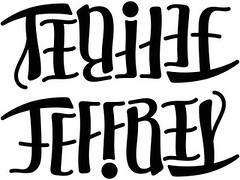 """""""Tenille"""" & """"Jeffrey"""" Ambigram v.2"""