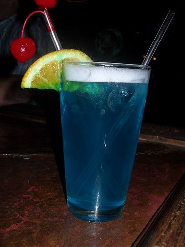 Blue Drink at The Rum House