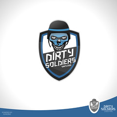 Dirty Soldiers Logotype (dukk from D2works) Tags: logo counterstrike teamlogo clanlogo skulllogo counterstrikelogo soldierlogo warlogo