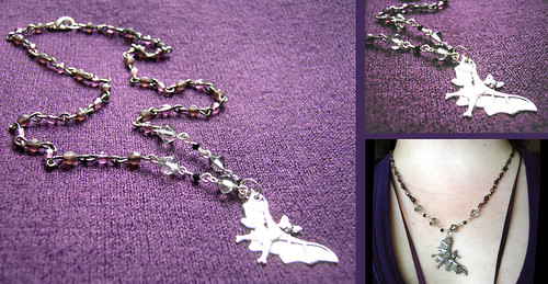 Beady Bat Necklace
