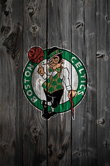 Boston Celtics Wood iPhone 4 Background